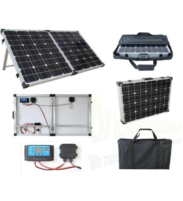 Brightsolar 100w kannettava ja taitettava aurinkopaneeli